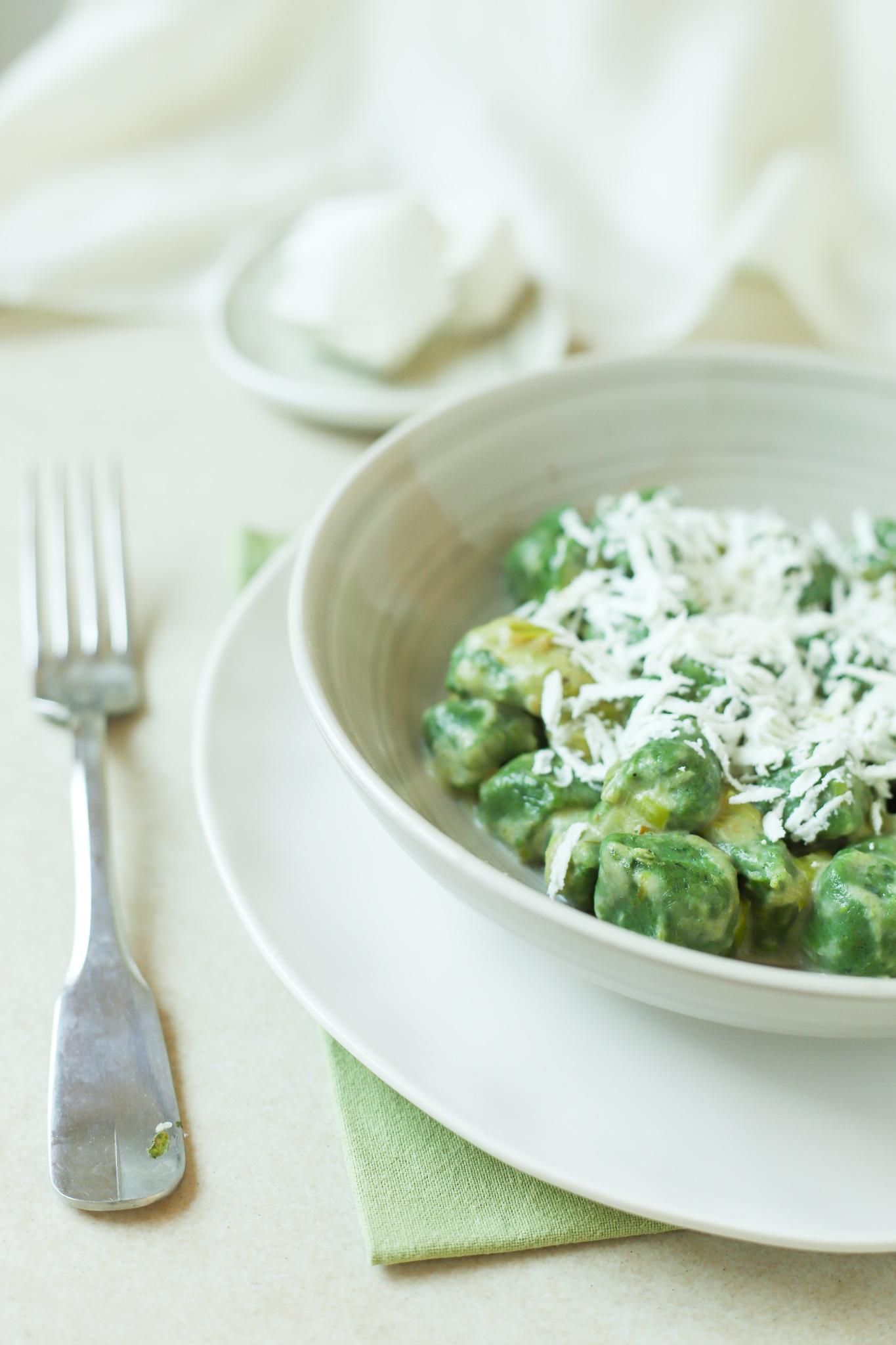 Gnocchi di spinaci freschi e ricotta