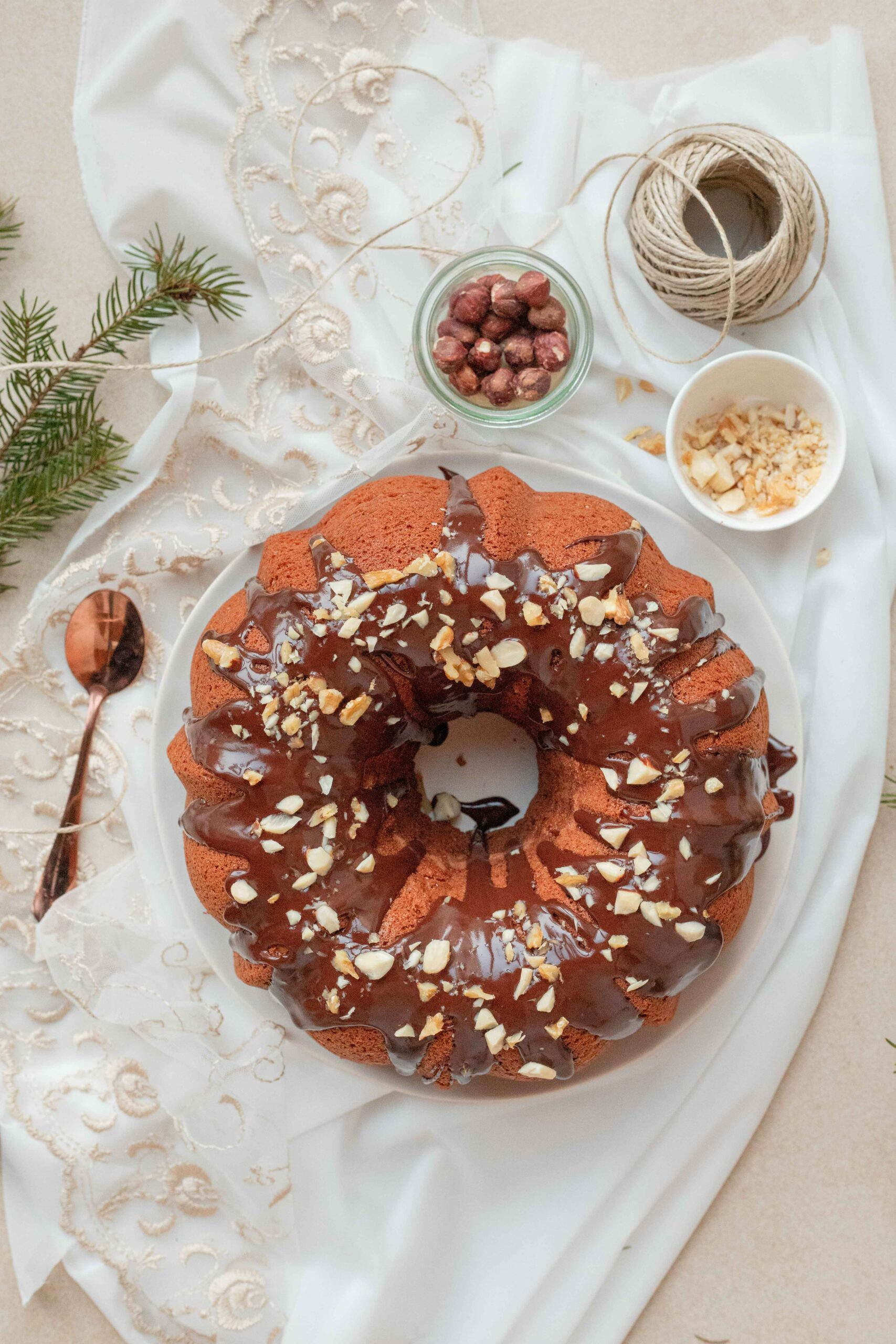 Bundt cake cioccolato e nocciola